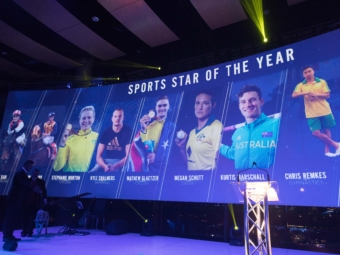 SA Sports Star of the Year Awards Curved Screen